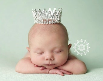 Newborn Crown, Photo Prop, Tiara - Hadley, baby crown, photography prop, crystal crown