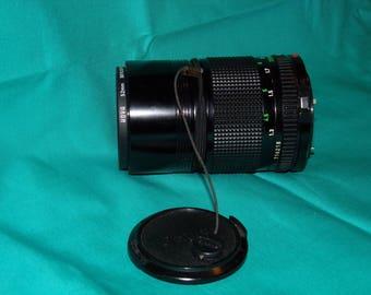 Vintage Canon Camera Lens 135  mm, 52mm Skylight, Lens