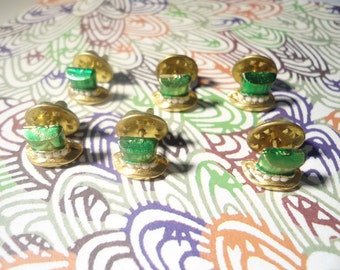 6 Goldplated St. Patrick's  Day Hat Pins