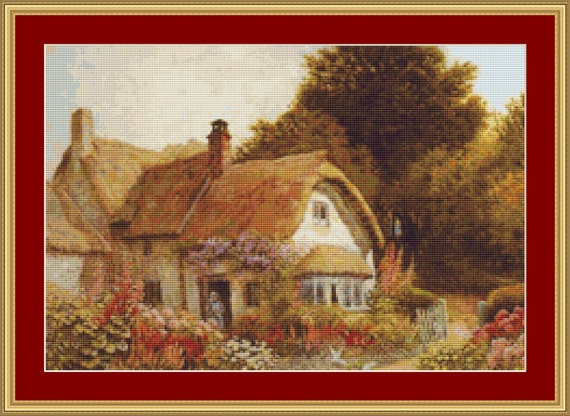 At Allerford, Somerset Cross Stitch Pattern /Digital PDF Files /Instant downloadable