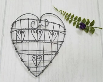 Vintage Heart Hand Made Twisted Wire
