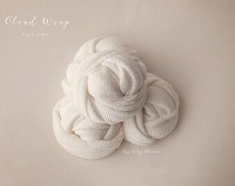 Cloud Wrap, Cream Newborn Wrap, Newborn Photo Prop, Cream Stretch Wrap, Essential Newborn Stretch Wrap, Newborn Stretch Knit Wrap