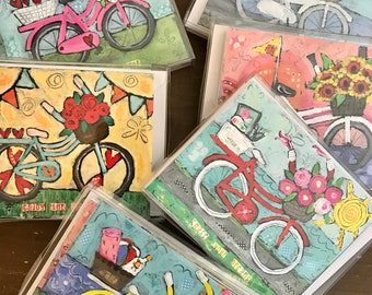 Bicycle notecards, bicycle stationery
