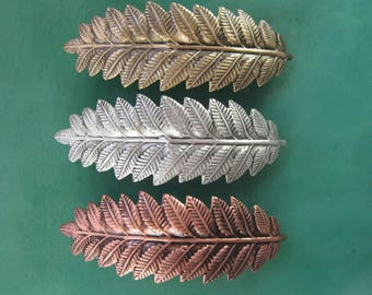 Fern French Barrette 70MM- Hair Accessories- Barrettes and Clips- French Clips- Hair Accessories- Hair Clips