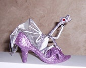 Baby Dragon Art Doll: Lilac & the Purple Shoe, Silver / Lavender Dragon