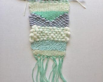 THEO  |  Mint, gray and cream weaving