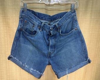 Levi Strauss Denim High Waist Shorts