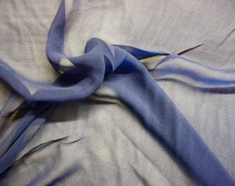 "Navy Silk Chiffon Fabric 43/45"" Wide Per Yard"
