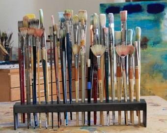 Metal-Artist Paint Brush 60 Holder--Metal