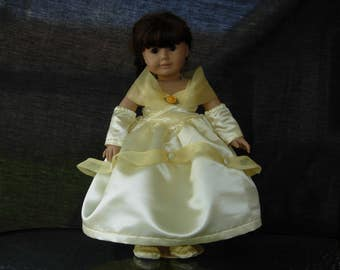 American girl doll gown for Bell