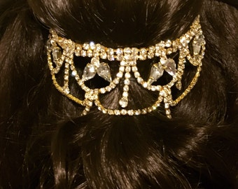 Belle Beauty and Beast Rhinestone Crystal Hairpiece Hair Accessory