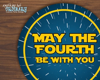 May The Fourth Be With You Favor Tags, May the 4th Printable Labels, INSTANT DOWNLOAD digital file