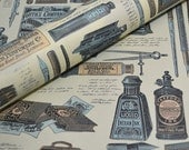 Vintage Style Pen and Ink Design - Italian Paper