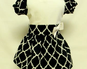 Geometric Print Dress  For 18 Inch Doll Like The American Girl