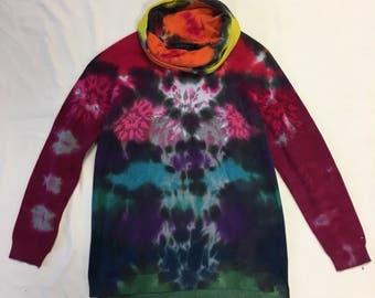 Funky Tie Dye Ladies Sweater size Medium