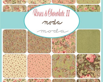 NEW - Roses and Chocolate II Charm Pack by Moda