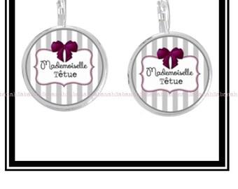 """Miss stubborn"" original earrings"