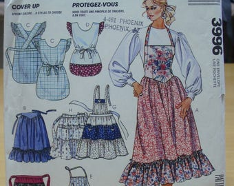 Free shipping! McCall's Crafts 3996 Aprons galore sewing pattern One size UNCUT