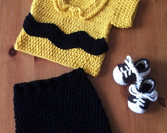 Charlie Brown infant photo prop/costume