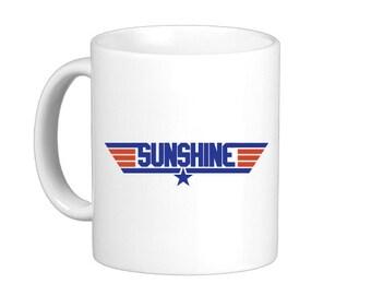 Sunshine Top Gun Coffee Mug, hs0306