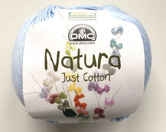 DMC Natura Just Cotton - 100% Cotton 4 Ply yarn - Blue Layette - N05