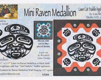 Mini Raven Medallion Laser Cut Fusible Appliqué, Lisa Moore, DIY Quilting