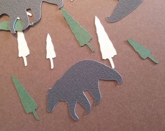 Black Bear Party Confetti-Lumberjack confetti-Lumberjack Party Confetti