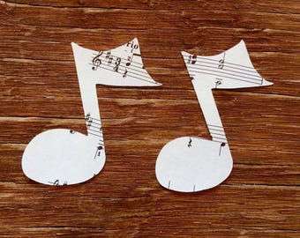 Vintage Sheet Music notes cut outs die cuts