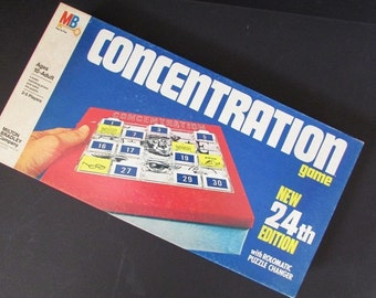 Concentration Vintage Milton Bradley Game 24th Edition Rolomatic Puzzle Changer