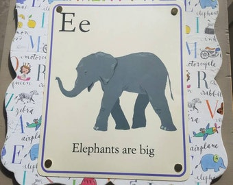 Elephant art, children, kids room, wall, decor,