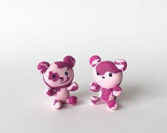 Tie Dye Teddy Bear Couple