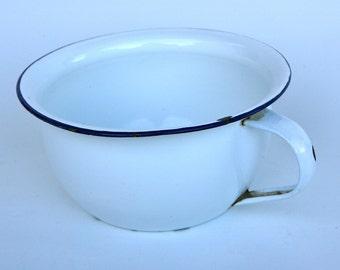 Italian enamelware chamberpot