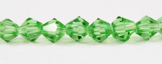 Green Bicone Crystal Beads 3mm Crystal Beads, Green Crystal Beads, Green Bicone Beads, Tiny Crystal Beads Chinese Crystal Glass Beads 100pcs