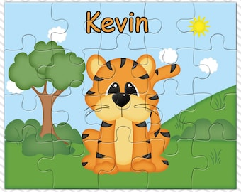 Tiger Personalized Puzzle, Personalized  Tiger Puzzle, Personalized Kids Puzzle