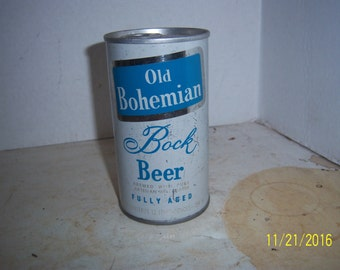 1970's Old Bohemian Bock Beer Eastern Brew Co Hammonton, NJ  12 oz steel beer can