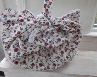 Eco-friendly Furoshiki -Handbag/Shoulder bag/Toiletrie or Gift bag/wrap