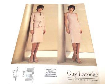 Vogue Paris Original Pattern, Vogue 2537, Guy Laroche Vogue Pattern, Jacket and Sleeveless Dress, Uncut, Size 8 10 12