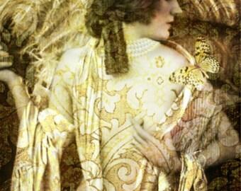 Art Print ,Photo Print,Vintage image altered art,1920s,Ziegfeld Follies dancer.