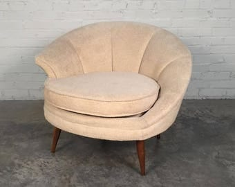 Swanky Mid-Century Modern Lounge Chair Hollywood Style / By Carsons Of High Point - SHIPPING NOT INCLUDED