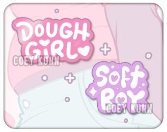 Coey: Soft Boy & Dough Girl (Enamel Pins)