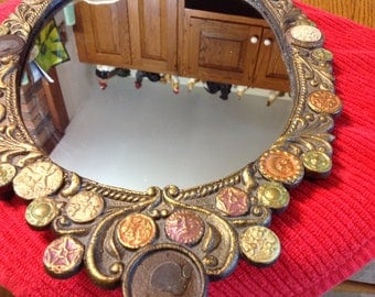 Vintage Metal Decortive Mirror - Wall Hanging - Home Decor