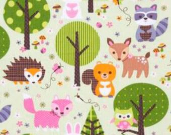 Woodland Creatures fabric from JoAnn Fabrics
