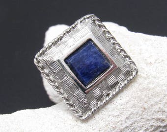 Vintage Blue Tie Tack Mens Jewelry H900