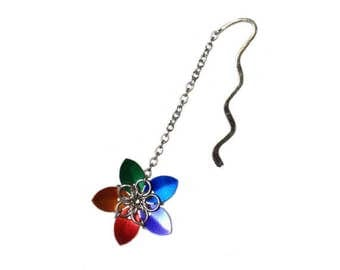 Flower Bookmark Chainmail Bookmark Chainmail Jewelry Chainmaille Jewelry Floral Bookmark Handmade Bookmark Unique Bookmark