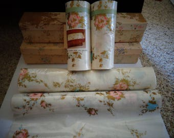 Vintage Scented Drawer Liner Lot Polyfab Two Sizes