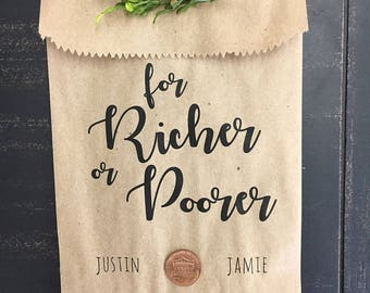 Scratch Ticket Wedding Favor Bags - Lotto Ticket Bags - Lottery Ticket Holders - Fun Bridal Shower Favor Idea - pack of 25
