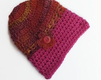 Beanie winter hats caps winter grey mustard knit beanies children's crochet chunky handmade accessories