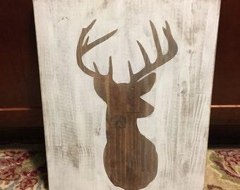 16x20 wooden deer sign
