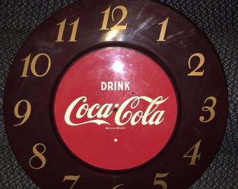 1950's Coca Cola clock face