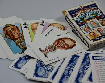 eb2113 Vintage Playing Cards POLITICARDS '96 Casino Quality Plastic Coated...54 famous faces ACTION PUBLISHING - Glendale California